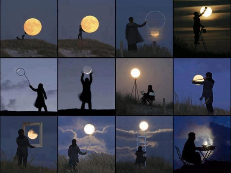 Many ways to use the moon as art
